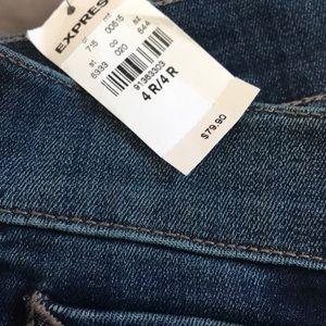 Express Jeans - NWT Express Dark Mia mid rise slim flare jeans